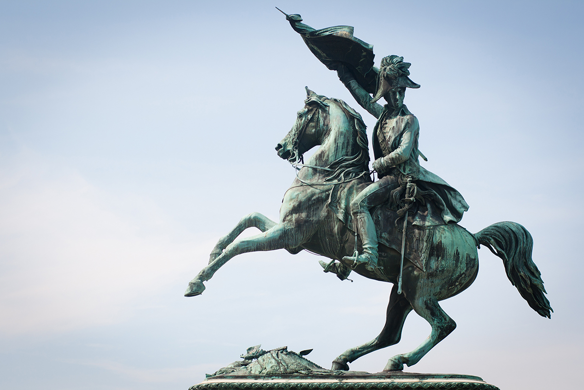 Statue of the Archduke Charles of Austria, Duke of Teschen on the Heldenplatz, Vienna, Austria